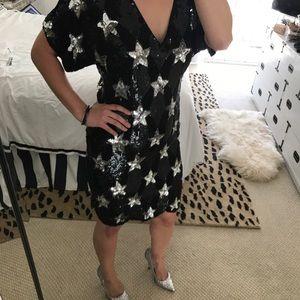 Vintage Sequined Star Dress SZ M